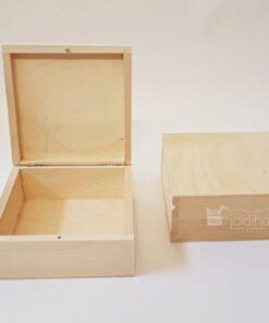 Cutie blank lemn – natur – 16×16 cm