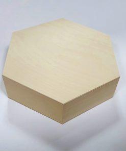 Cutie din lemn hexagonală - mare