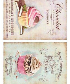 Hârtie decoupage prăjituri sweets 7.