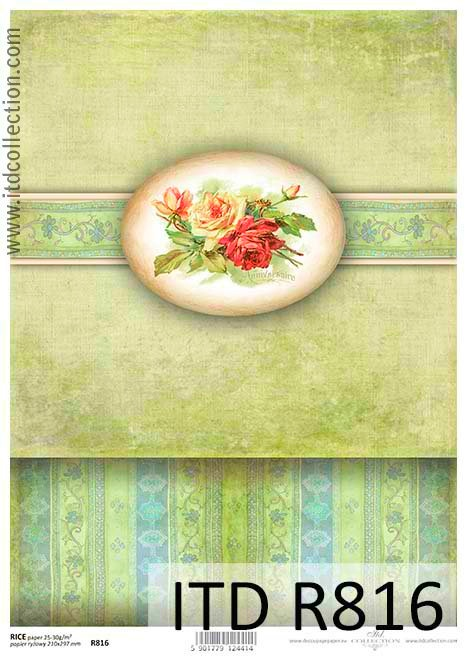 Hârtie de orez - trandafir A4 1