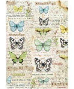 Hârtie de orez A4 – butterfly DFSA4178