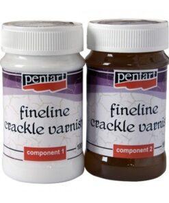 Medium crapare cu linii fine bicomponent fineline crackle pentart