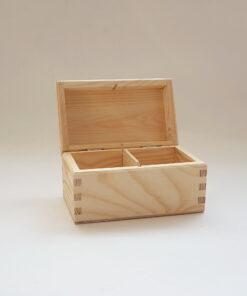 Cutie ceai lemn blank 2 compartimente