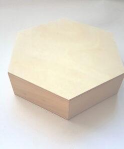 Cutie lemn hexagon