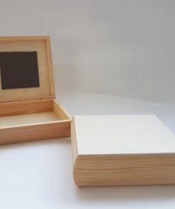 Cutie blank lemn cu oglindă