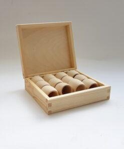 Cutie din lemn suport inele șervețele