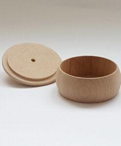Cutie din lemn rotundă