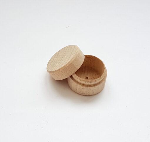 Cutie rotundă pentru cercei/inel - ⌀ 4 1