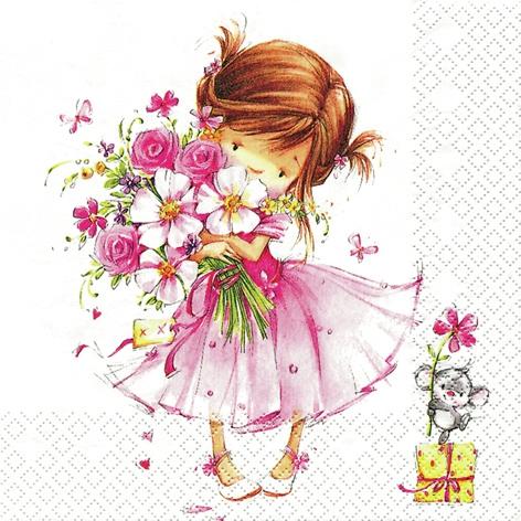 Șervețel – Little Princess – 33×33 cm