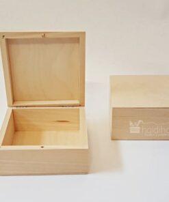 Cutie din lemn pătrată L13xh13xh6 cm