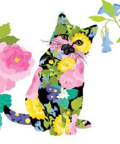 servetel decoupage motiv pisica