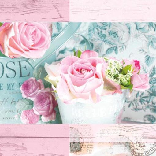 Servetel Belle Fleurs de Paris rose