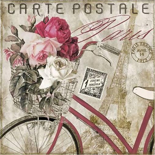 Servetel decoupage Carte Postale Paris