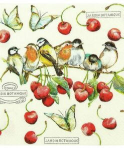 Servetel cu cirese si pasari Cherry Birds