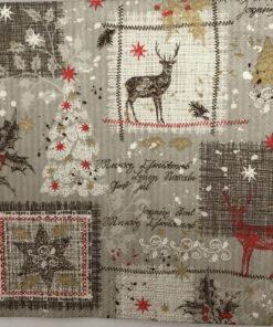 Servetel cu motiv iană, crăciun DInverno grey