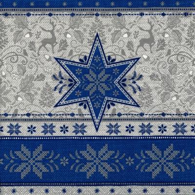 Șervețel - Hivernale blue - 33x33 cm 1