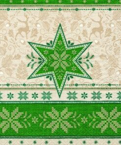 Servetel motiv iarna Hivernale green