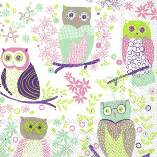Servetel JOLLY OWLS light green bufnite