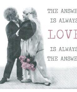 Servetel decoupage love is answer