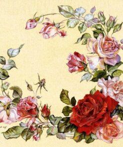 Servetel decoupage - trandafir 2