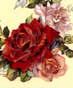 Servetel decoupage - trandafir