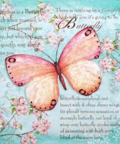 Servetel fluture albastru
