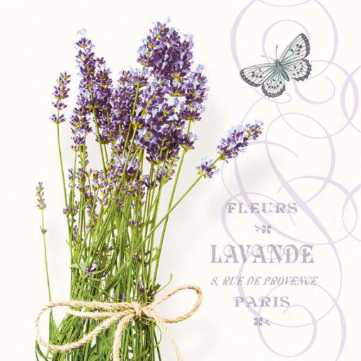 Servetel lavanda buchet - bunch of lavender 25x25