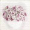 Servetel vintage roses bouquet