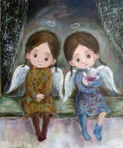 hârtie de orez pictura Nino Chakvetadze