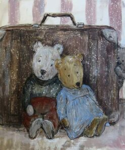 hârtie de orez pictura Nino Chakvetadze ursuleti
