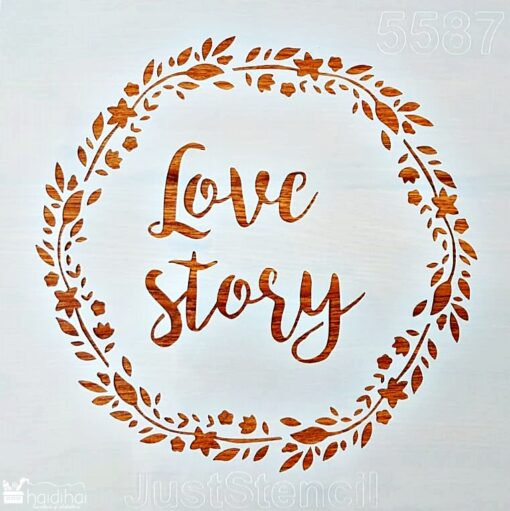 Șablon – Love story – 30×30 cm