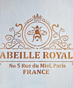 Șablon – No 5 Paris France – 30×30 cm