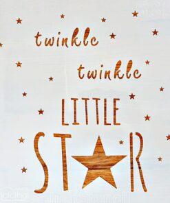 Șablon – Twinkle, twinkle little star – 30×30 cm