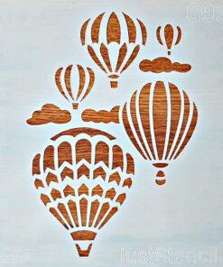 Șablon – baloane cu aer cald – 30×30 cm