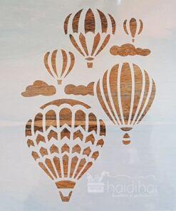 Șablon – baloane cu aer cald – 30×30 cm - cod 6931