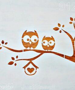 Șablon – bufniță – owl – 30×30 cm