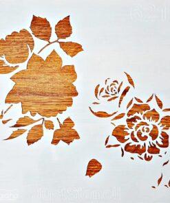 Șablon – flower power – 30×30 cm