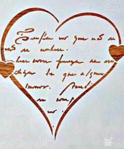 Șablon – heart – love – inimă – 30×30 cm
