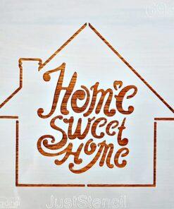 Șablon – home sweet home – 20×20 cm