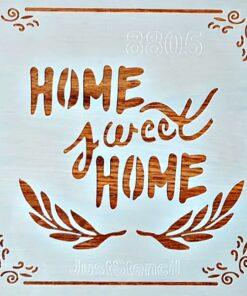 Șablon – home sweet home 2 – 20×20 cm
