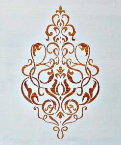 Șablon – motiv damask – 30×30 cm