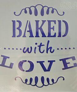 Șablon baked with love
