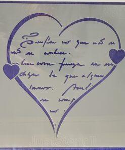 Șablon heart - love