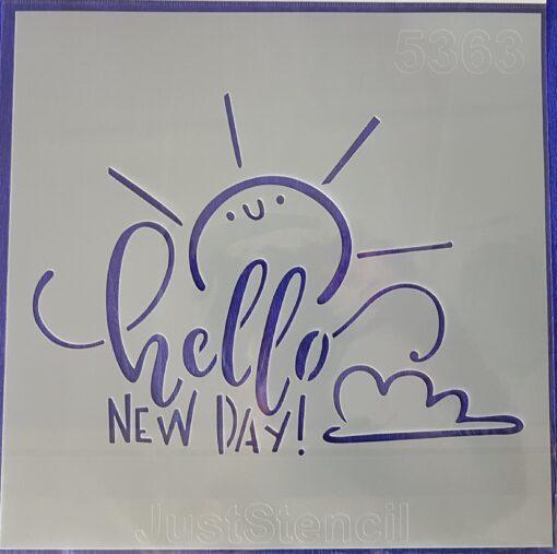 Șablon hello new day