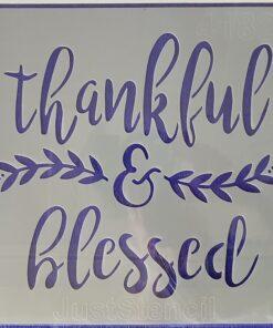 Șablon thankful&blessed