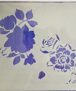 Șablon_stencils_template_flower_power