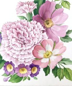 Șervețel floare de garoafă - 33x33 cm