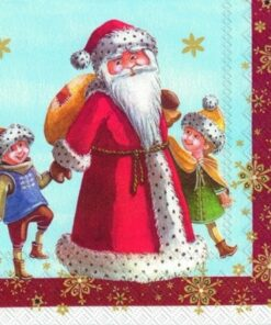 Șervețel - santa whit kids - 33x33 cm