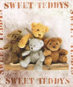 Șervețel - sweet teddys - 33x33 cm