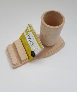 Office kit business suport din lemn pentru carduri și pixuri